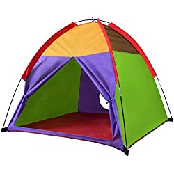 "Alvantor Kids Tents Indoor Children Play Tent for Toddler Tent for Kids Pop Up Tent Boys Girls Toys Indoor Outdoor Playhouse Camping Playground 8010 Rainbow 48""x48""x42"