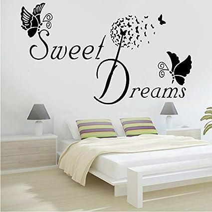 Dolce sogno farfalla amore citazione wall sticker camera da letto ...