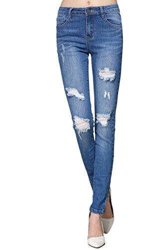 ZLZ Destroyed Distressed Stretch Legging product image