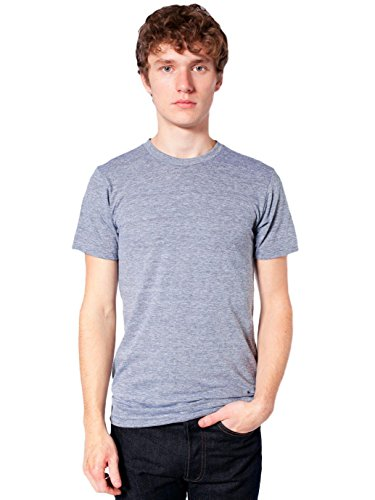 American Apparel  Unisex Tri-Blend Short Sleeve Track Shirt, Athletic Grey, Medium