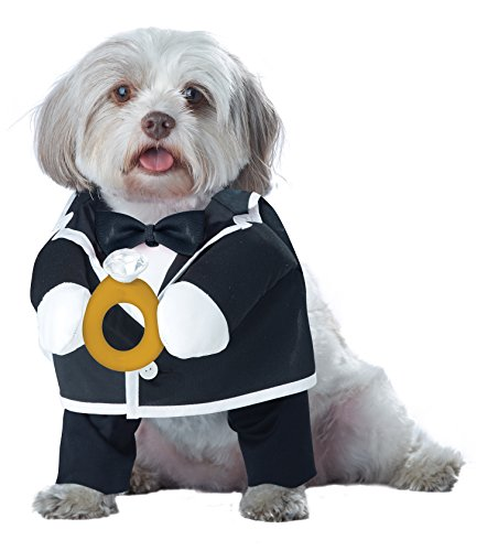 Best Black Dog Costumes - California Costume Collections Pup-A-Razzi Puppy Love-Groom Dog Costume, Black/White, Medium