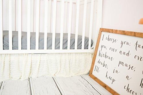 Cream Crib Skirt for Baby Girl Nursery Bedding Dust (Ivory Colored Box)