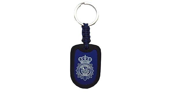 Llavero Policía Nacional. Paracord y Aluminio. Medida Total ...