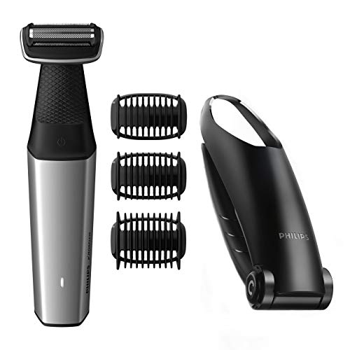 (Norelco WATER RESISTANT Men's Cordless Body Groomer with Cordless Shaving Attachment & EXTRA Long Attachment)