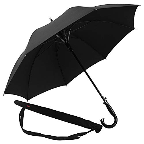 Lejorain Oversized Cane Classic Golf Umbrella/Automatic Open 50inch Coverage Windproof and Rainproof - Stick Umbrella with Stylish J Handle