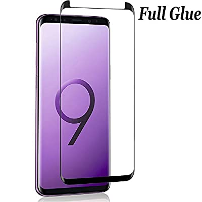 ANWER Samsung Galaxy S8 Plus Screen Protector 3D Curved Tempered [Anti-Bubble][9H Hardness] [HD Clear][Anti-Scratch][Full Screen] Glass Screen Film for Samsung Galaxy S8 Plus