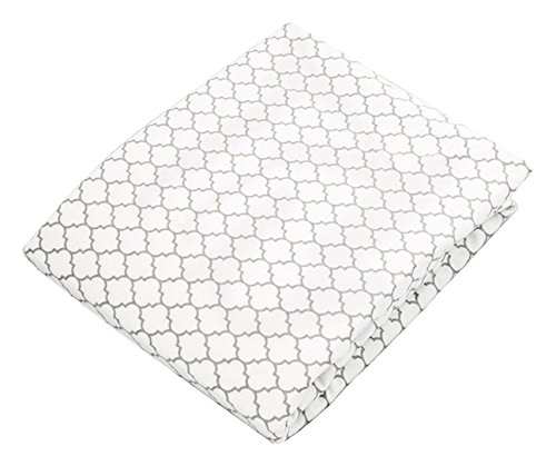 Kushies Change Pad Fitted Sheet with Slits for Safety Straps Flannel, Pre-assorted Prints by Kushies