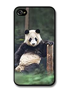 Panda Bear Sitting & Thinking For Apple Iphone 4/4S Case Cover
