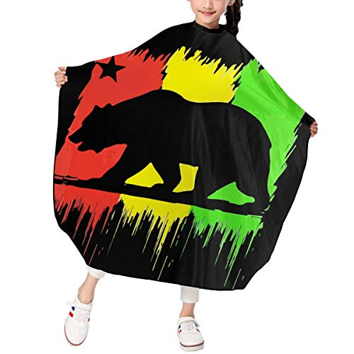 ZSD-YY California Bear Haircut Apron Professional Waterproof Salon Polyester Barber Hairdressing Tools Haircut Cloth for Toddler