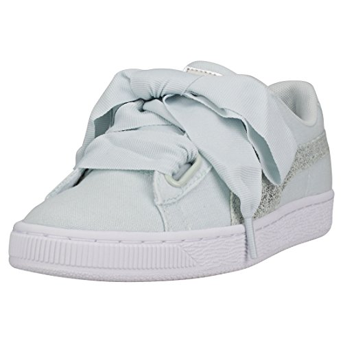 Gold Azul Puma Wn's White Puma Heart Canvas Basket Rose Pearl 2018 wq0PTB