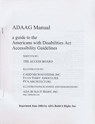 amazon com adaag manual a guide to the americans with disabilities rh amazon com  NordicTrack Act Manual