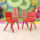 Flash Furniture 2 Pack Red Plastic Stackable School