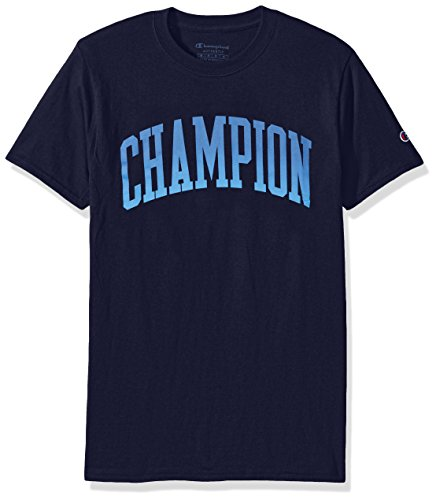 Champion Men's Classic Jersey Graphic T-Shirt, Navy/Tall Arch, Small
