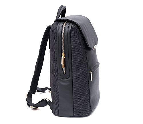 15a29afc5679 Amazon.com  P.MAI Premium Valletta Leather Laptop Backpack for Women with  Wristlet I 15-Inch Executive Laptop and Notebook Computer Backpack I Ideal  for ...