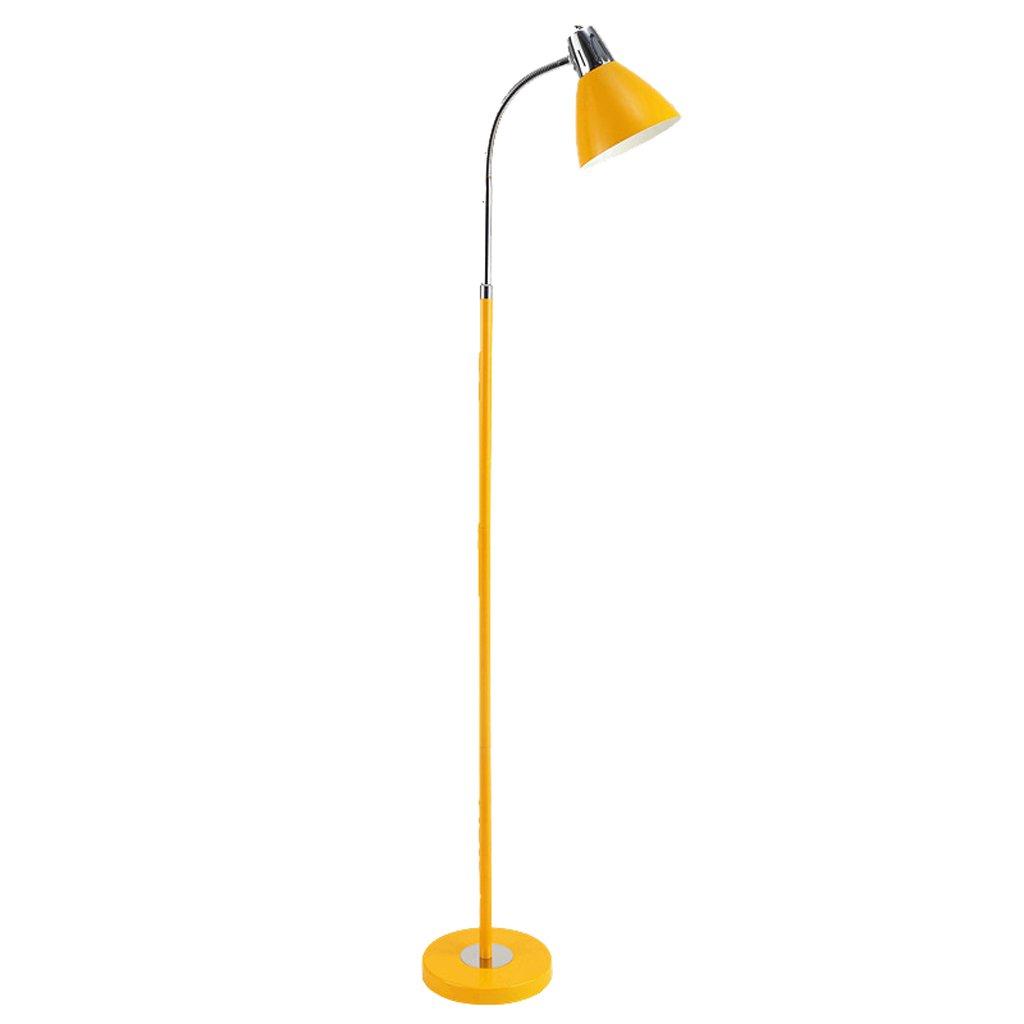 3 höhenverstellbare Stehleuchten, verstellbarer Metallschlauch E27 Wohnzimmer Esszimmer Stehleuchte Nachttisch (Farbe : Gelb) Charme