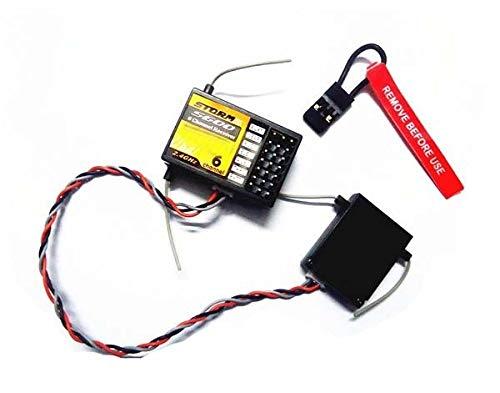 Accessories 2.4GHz 6CH DSM-2 S600 RC Receiver with Satellite Function Similar AR6200 Receiver Apply to SPEKTRUM DX6 DX7 DX8 JR Transmitter - (Color: S600 w Satellite)