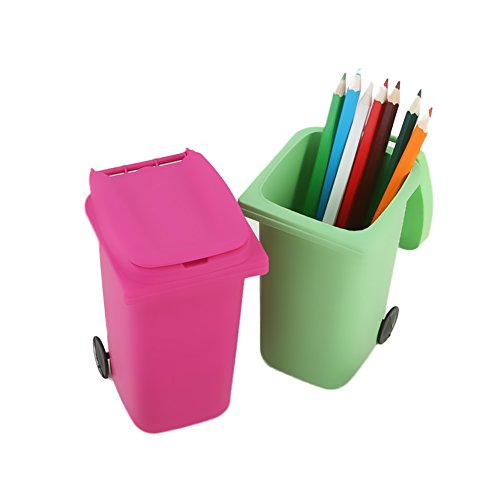 PYD Mini Garbage Can Home Office Desk Table Pen Pencil Holder Organizer Stationery Storage Basket Case Photo #4