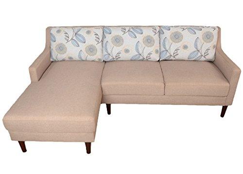 Beverly Furniture Vono Left Chaise L Shape Sofa, Beige