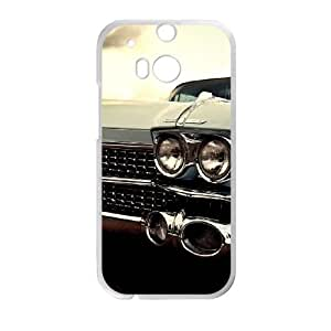 Cadillac HTC One M8 Cell Phone Case White MSU7195368