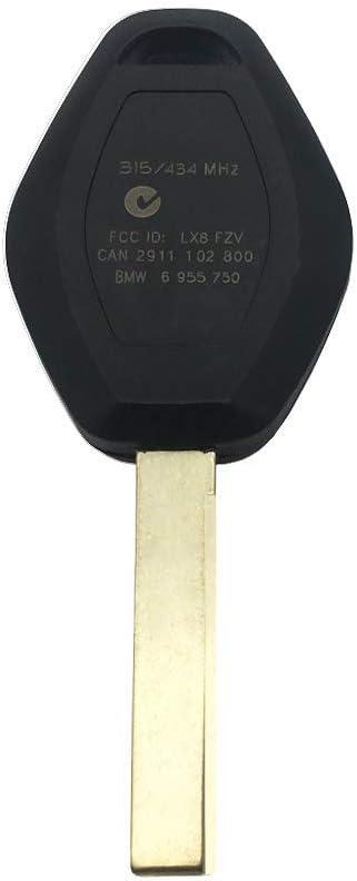 Bmw e46 clave control remoto rohling key id44 chip 433,92mhz completamente set a65