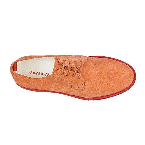 Armani Jeans clásico zapatos de cordones en ante hombres nuevo derby naranjane