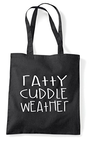 Funny Shopper Themed Animal Tote Black Ratty Cute Bag Pet Cuddle Weather zwYWqSaI