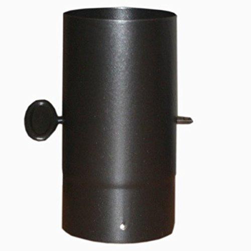 TEN 0.25 metre Straight 5 inch Plain Black Flue Damper Section Gr8Fires