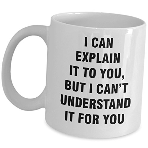 Gift For Computer Programmer Mug - I Can Explain It To You But I Cant Understand It For You - Funny Cute Ceramic Office Coffee Tea Cup Gag Software Developer Engineer Coder Analyst