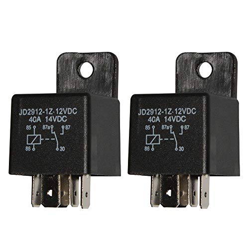 Ehdis Motor Relay 5 Pin 12V Coil 40amp Spdt Model No.: JD2912-1Z-12VDC 40A 14VDC, Contactor Relay Switch Power, Auto Switches & Starters, 2 Pack