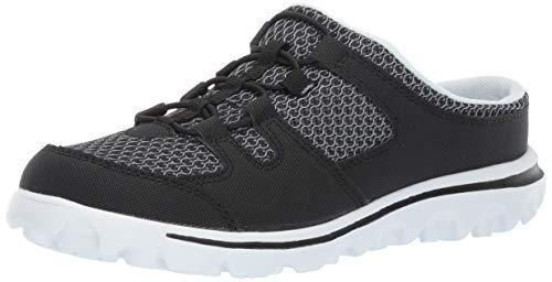 (Propet Women's TravelActiv Slide Sneaker Black 09 2E US)
