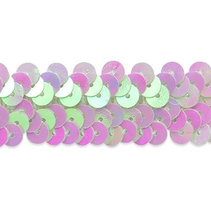 20-Yard Expo International 2-Row 7//8-Inch Metallic Stretch Sequin Trim Pink