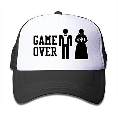 Flower Kids Game Over Funny Bachelor Party, Wedding Groomsman Humor Unisex Mesh Hat Trucker