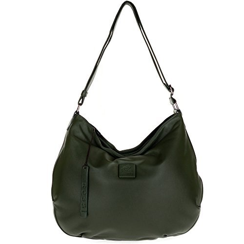 Bruno Rossi Italian Made Moss Green Butter soft Lamb Leather Large Hobo ()