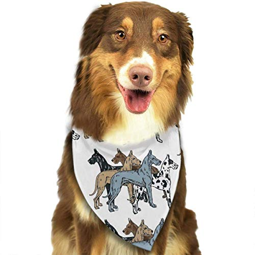 Dog Bandana Great Dane Colors Upgraded Pet Scarf Triangle Bibs Kerchief Set Pet Costume Accessories Decoration for Small Medium Large Dogs Cats Pets]()