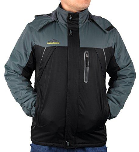 iLoveSIA Men's Mountain Waterproof Fleece Ski Jacket Windproof Rain Jacket – DiZiSports Store