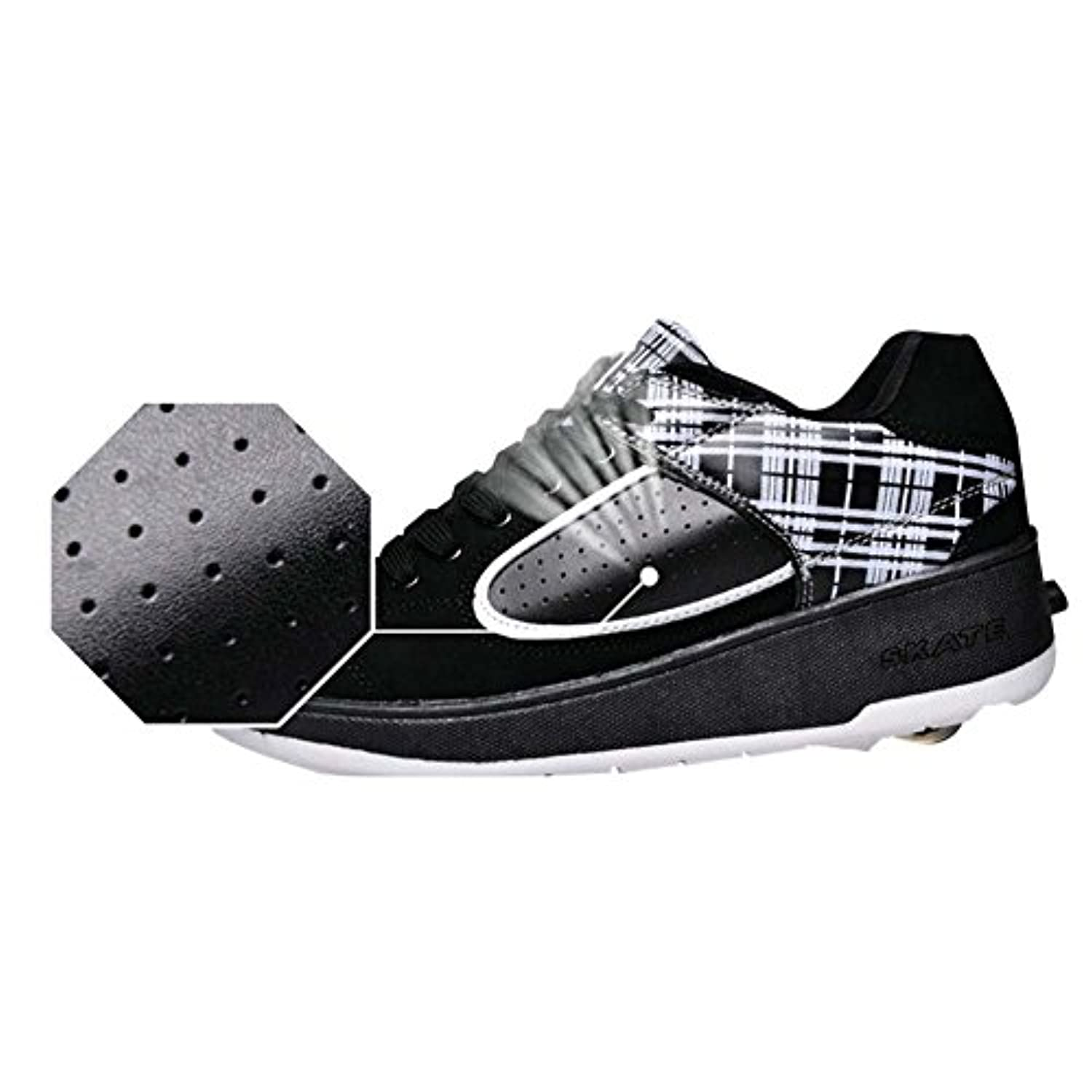 Retractable Child Girls Adult Boys Wheel Roller Skate Shoes with/without LED