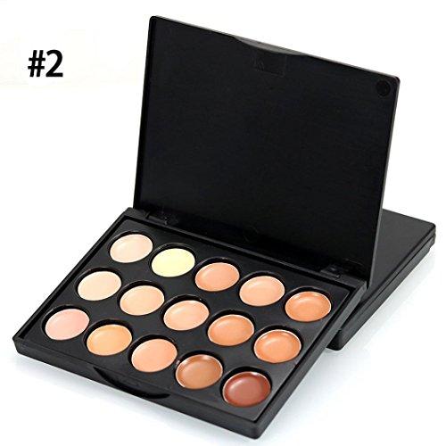Coohole 1 PC Beauty Mini 15 Colors Face Concealer Camouflage Cream Contour Palette (Concealer Refills)