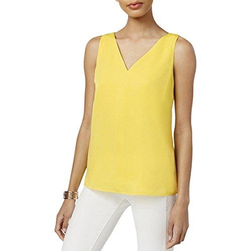 Bar III Womens Sydney Sleeveless Blouse Tank Top Yellow L from Bar III
