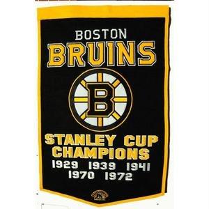 - Boston Bruins 24x36 Wool Dynasty Banner