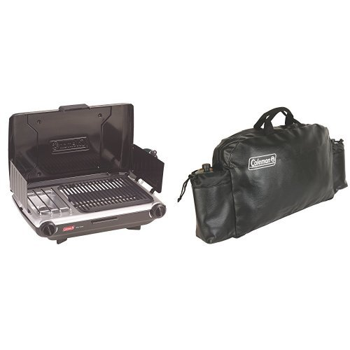 Coleman Camp Propane Grill/Stove and Coleman Large Stove Carry Case Bundle by Coleman