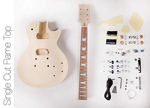 The FretWire DIY Electric Guitar Kit Singlecut Style Build Your Own Guitar Kit (Guitar Mosrite)