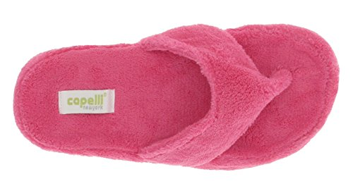 Capelli New York Ladies Micro Cozy Indoor Slippers Pink Thf1fgMoAz