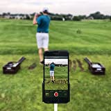 PureShot Golf Swing Recorder Training Aid Cell Phone Holder | Easily Attaches to Club Shaft & Alignment Stick | Instant Feedback at Your Fingertips
