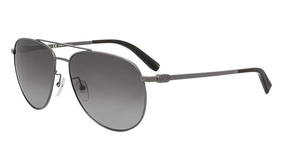 97ccce7efbfc Amazon.com: Salvatore Ferragamo Sunglasses SF157S 069 Shiny Ruthenium  Aviator Unisex: Clothing