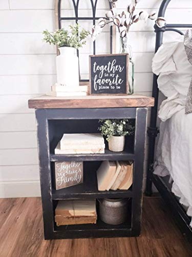 Bedroom Milly Farmhouse End Table, Bedroom Table, Rustic End Table farmhouse nightstands