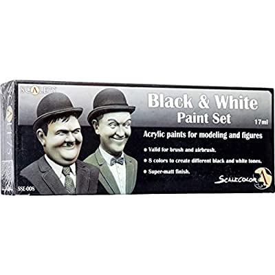 Scale 75 Scale Color Black and White Paint Set: Toys & Games
