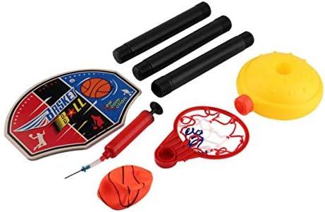 キッズスポーツポータブルバスケットボールおもちゃセットスタンドボール&ポンプ幼児ベビーセーフインフレータブルバスケットボール軽量