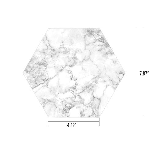 iPrint Hexagon Wall Sticker,Mural Decal,Marble,Nature Granite Pattern with Cloudy Spotted Trace Effects Marble Artistic Image,Light Grey Dust,for Home Decor 4.52x7.87 10 Pcs/Set