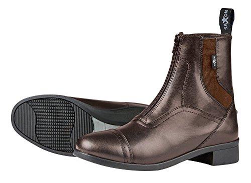 Boots Syntovia Saxon Childrens Paddock Riding Brown Zip Horse gn6xqn