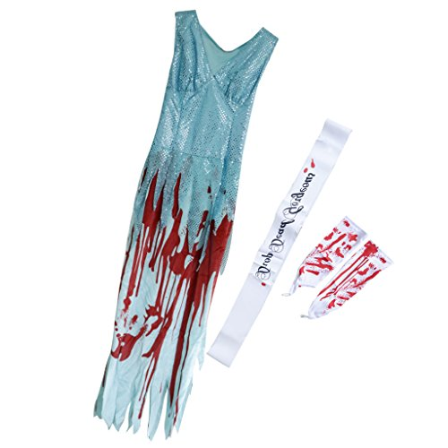 Fityle Drop Dead Gorgeous Prom Queen Sash Pageant Queen Halloween Fancy Dress Outfit -